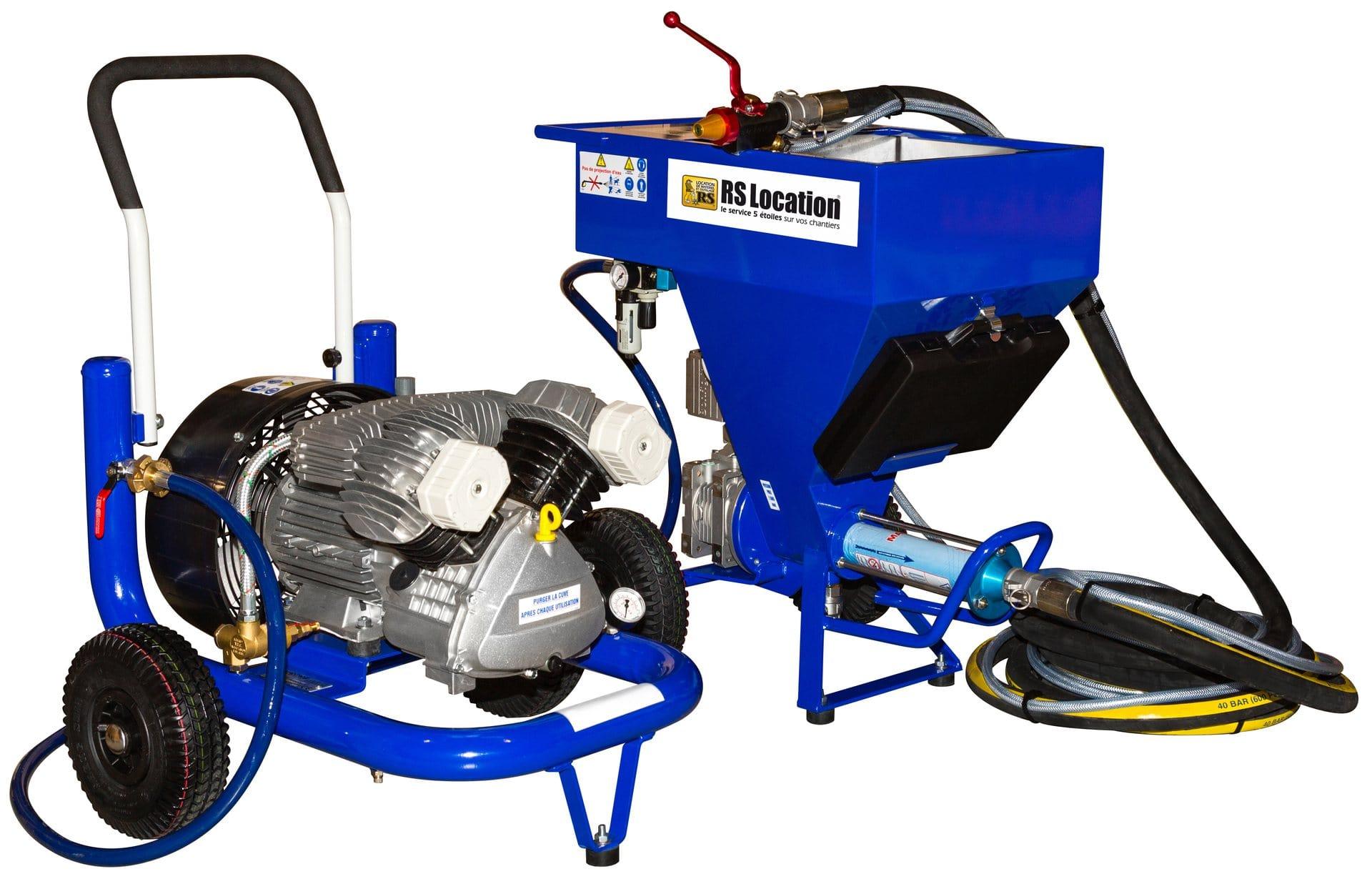 Machine A Projeter Les Enduits Avec Compresseur 230 V Rs